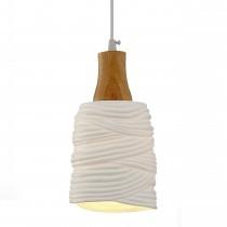 橫條紋透光陶瓷吊燈