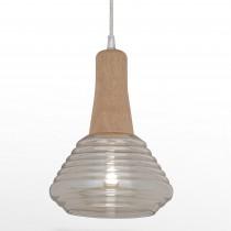 圓筒原木螺旋紋玻璃吊燈