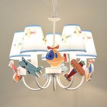 兒童房飛機燈罩吊燈