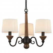 棕色木三燈頭吊燈