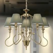 彎管古銅5燈吊燈