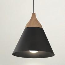錐形原木黑色小吊燈