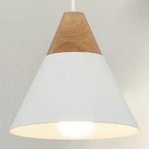 錐形原木白色小吊燈